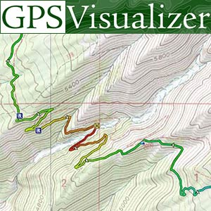 GPS Visualizer map input form: Plot quantitative data